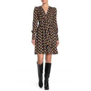 Diane von Furstenberg Maddi Geo Tie Front Dress